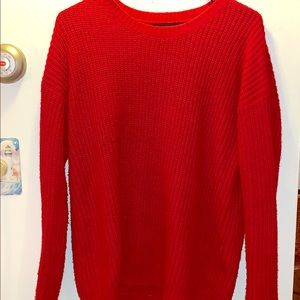 Forever 21 Red Sweater SIZE: Medium